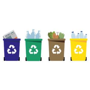 sanificazione contenitori per la raccolta differenziata